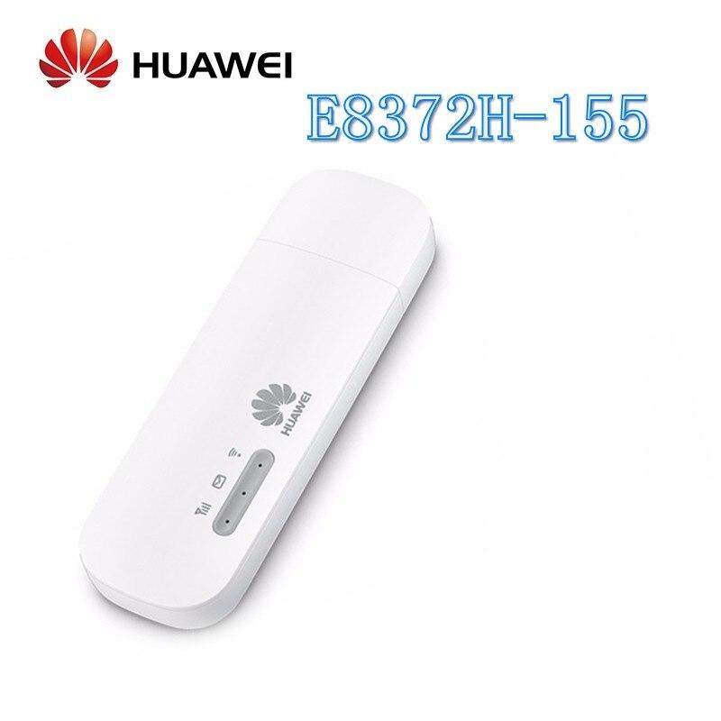 Unlocked Huawei E8372h 155 USB WiFi Modem 4G 150Mbps LTE FDD Band 1/3/5/7/8/20 TDD Band 38/40/41 3G Mobile USB Dongle