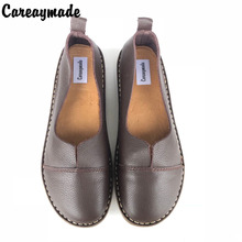 New 2017 Spring,Genuine Leather Shoes,Pure Handmade Flat Shoes,Women the Retro Art Mori Girl Shoes, Women Fashion Shoes,2 color