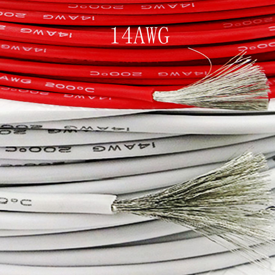 14AWG 3.5mm OD Flexible Silicone Wire Soft RC Cable UL High ...