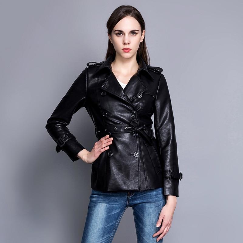 30c06bd1d5567 Black Boutonnage Cuir 2019 Noir Coupe Femmes Outwear Taille En Mince Série  Grande Rose Nouvelle Pu À vent Printemps Double pink Veste ...