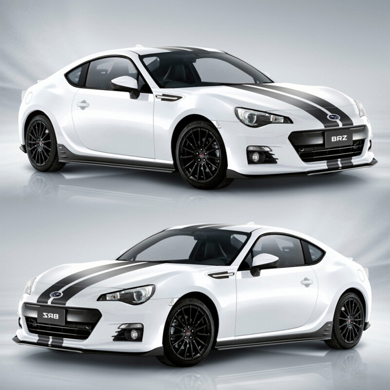 World Datong Sport Stripes Car Stickers For Toyota 86 Subaru BRZ Whole Body Sport Decals Auto Stickers