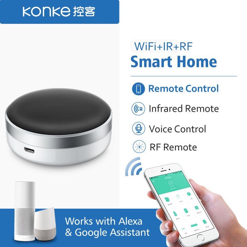 Smart Home Automation WiFi IR RF Switch Universal Intelligent APP Remote Control TV for xiaomi phone iphone Alexa Google Home
