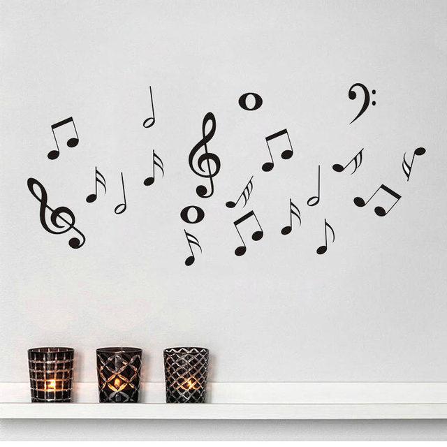 Online Shop Diy Music Symbols Removable Wall Sticker For Living Room