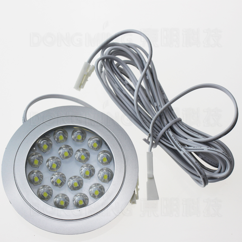 Round Recessed Led spot light 1.5W 12V Led kitchen Spotlight Warm/White home decor cabinet down Light cupboard DC12V wardrobe