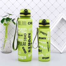 600/1000ML Sports Water Bottle with Cover One hand direct drinking Tritan bpa free Cute leak Proof My Gym Plastic Tea Bottles