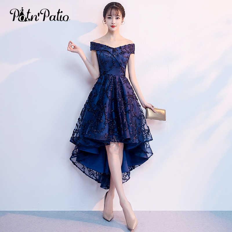 Shoulder Navy Blue Lace