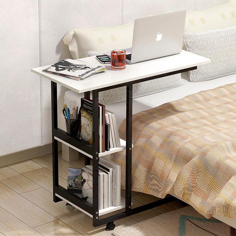 Simple Desktop Computer Desk Learning With Household Folding Mobile Bedside Table Mobile Laptop Standing Desk