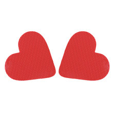 1 Pair Self-Adhesive Shoes Mat High Heel Sole Protector Red Heart-shape Rubber Anti-Slip Pads Cushion Insole Forefoot Sticker(China)