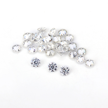 1carat/pack round brilliant cut 2.0mm small size melee moissanites gemstone beads for jewelry setting