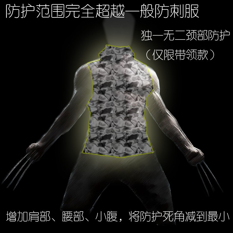 Hard stab service Interfax steel armor vest thin coat of self-defense can prevent a knife hidden neck cut