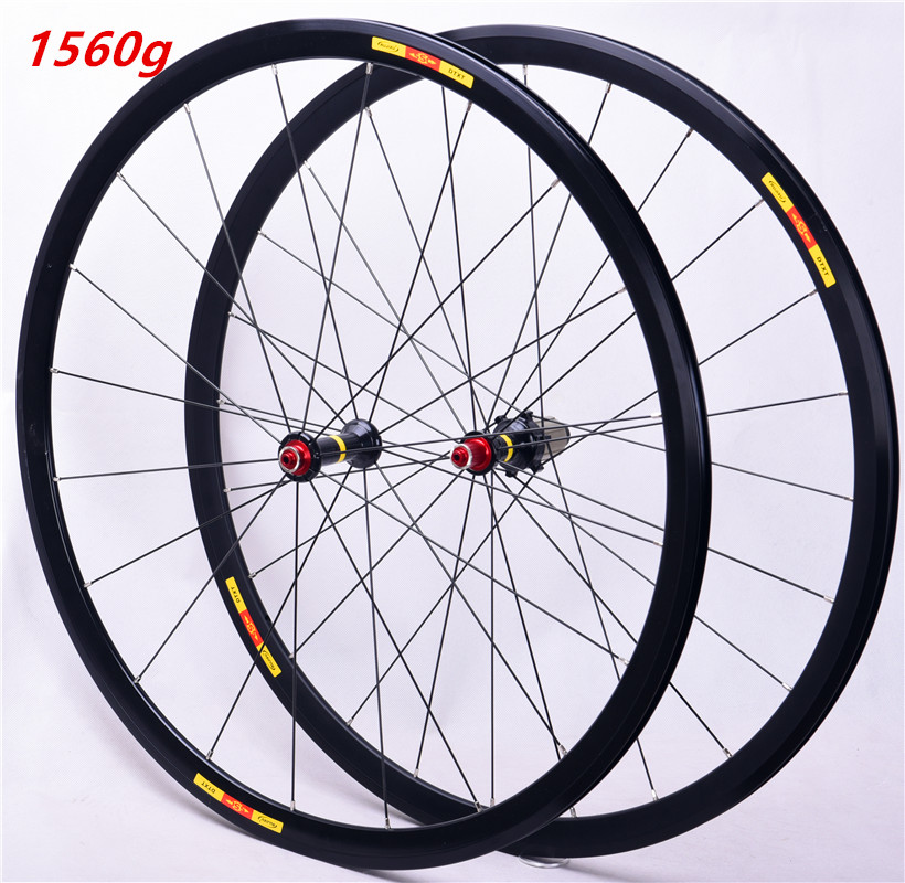 Ultralight Road Wheelset Front Two Rear Four Bearing Aluminum Alloy 30MM Wheel 700C Road Bike Wheel Bicycle
