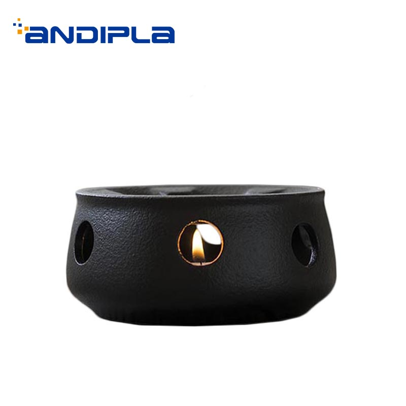 Japanese Style Candle Warm Tea Stove Ceramic Heater Candlestick /  Home Gardening Flower Tea Coffee Heating Base Teapot Holder|Teapot Trivets| |  - title=