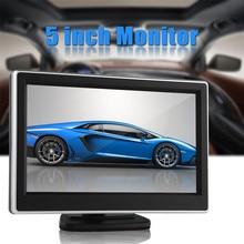 5 Pulgadas TFT LCD de Panel Digital 480×272 Coche Del Color Del Monitor Trasero Monitor de visión Con 2 Vías de Entrada de Vídeo Para Cámara de Marcha Atrás DVD