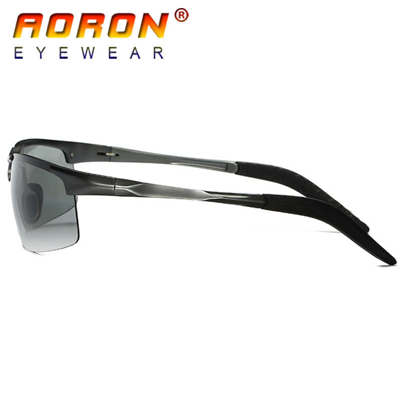 bcf5290a6702a AORON HD Photochromic Polarized Sunglasses Men Driving Day and Night Vision  Goggles Discolor Sun Glasses Eyeglasses A8177BS-in Sunglasses from Apparel  ...