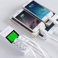 Điên!!! 8 USB Port MỸ EU ANH Cắm Travel Phổ AC Power Adapter Cắm Tường Thông Minh Sạc Đối Với Di iPhone Tablet máy ảnh