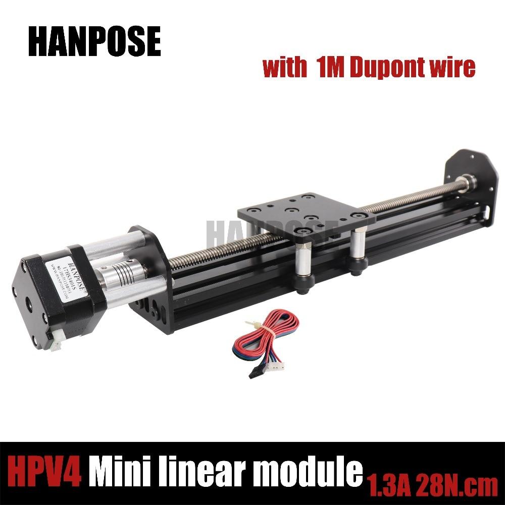 Novo openbuilds mini v módulo linear do atuador linear com 42 motor nema17 17hs3401s motor deslizante para reprap impressora 3d