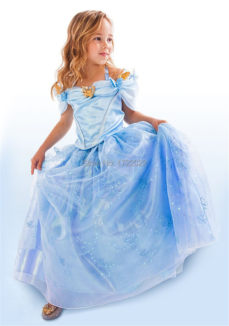 New Baby Girl's Cinderella Dress Limited Edition Costume Children Elsa Anna Princess Cosplay Dresses Kids Party Gift Fancy Cloth new mf8 eitan s star icosaix radiolarian puzzle magic cube black and primary limited edition very challenging welcome to buy
