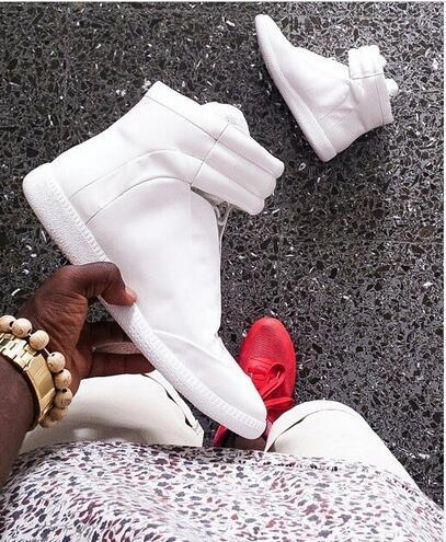 2017 डीलक्स वोग शरद ऋतु आदमी आरामदायक जूते फ्लैट नए डिजाइनर असली लेदर मिश्रित रंग हुक और लूप उच्च शीर्ष आदमी जूते डांसर