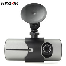 2.7″ Car Camera DVR Recorder GPS Dual Lens Camcorder Dash Cam with Night Vision Rear View Dashboard Car DVRs