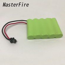 MasterFire 3PACK/LOT 6V 1800mAh 5x AA Ni-MH RC Rechargeable Battery Batteries Pack for Helicopter Robot Car Toys with Black Plug