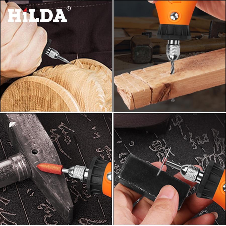 """""""HILDA 92Pcs"""" medžio metalo graviravimo elektrinis sukamųjų - Elektrinių įrankių priedai - Nuotrauka 6"""