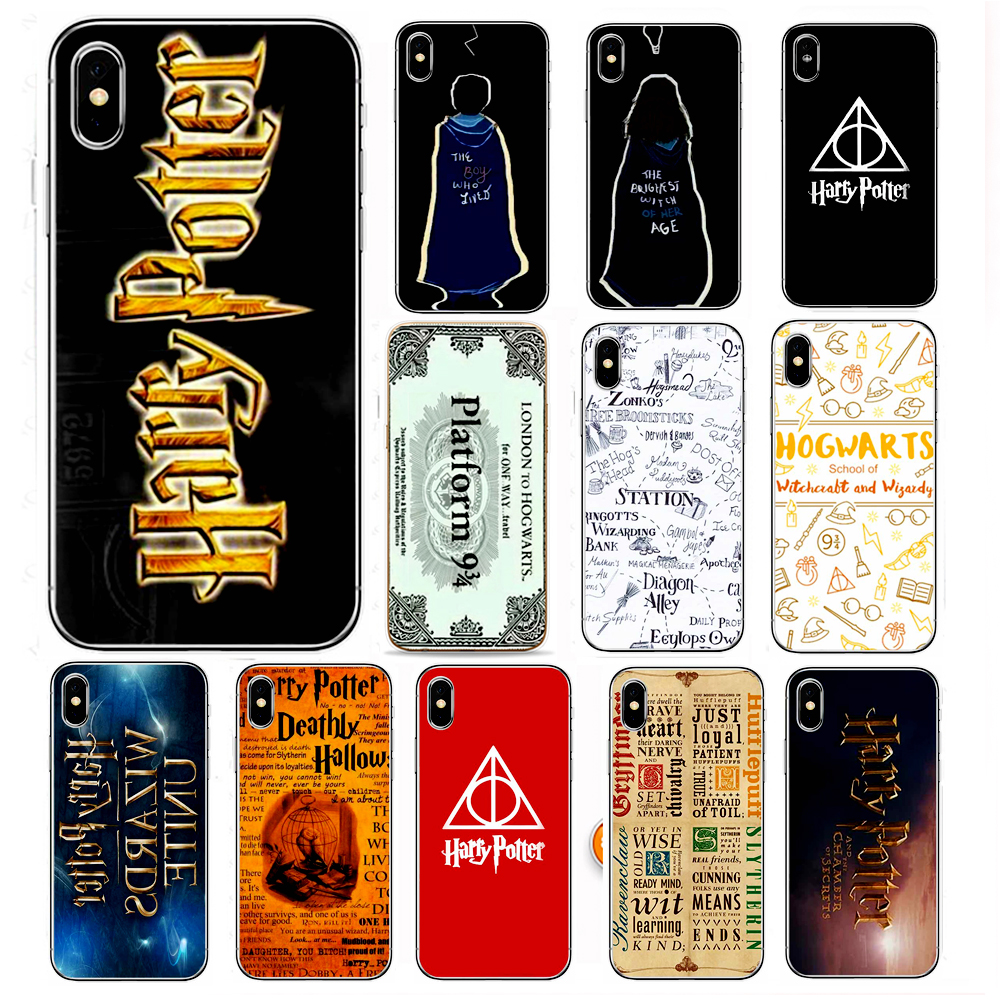 Case For Apple iPhone 7 6S 8 Plus 5S 5 se 7s X 10 TV Series Harry Potter Patterned Soft TPU Protect The Phone Case Cute Vintage