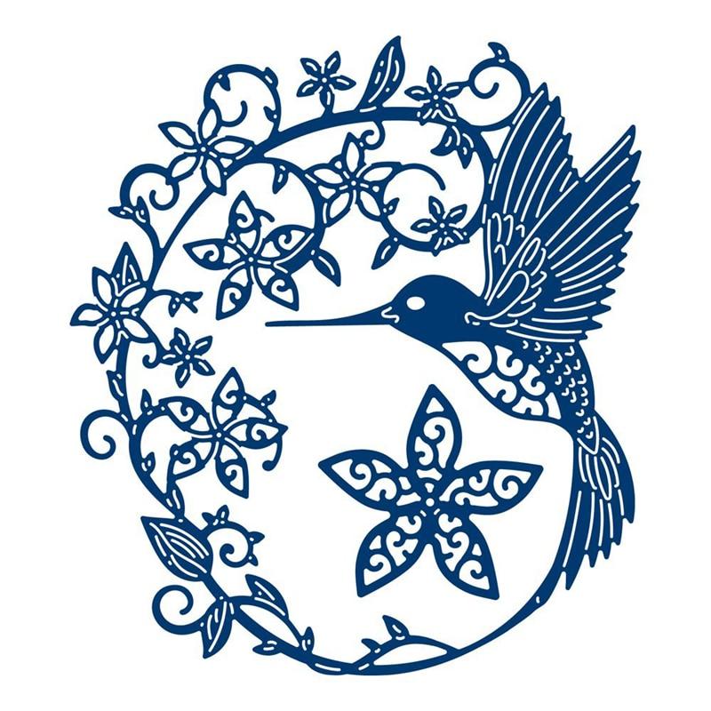 Eastshape Hummingbird Dies Metal Cutting Dies Scrapbooking Bird Die Cut for Card Making Album Paper Embossing Crafts New 2019 in Cutting Dies from Home Garden
