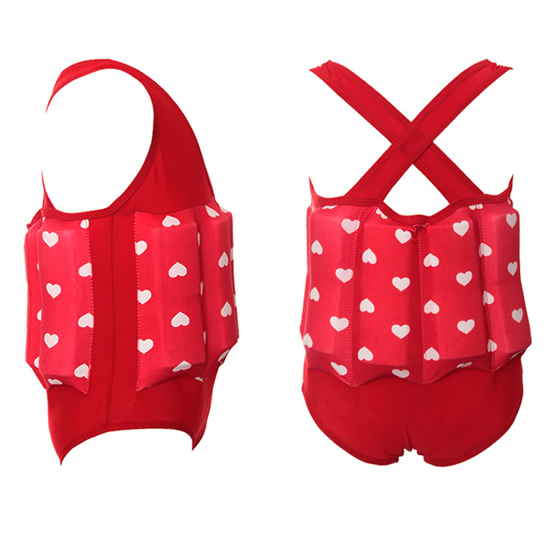 Children Professional Buoyant Swimming Suits Cute Printed Boys and Girls Buoyancy Swimwear Kids One Piece Swimming Float Suits