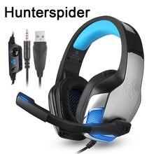 Hunterspider V4 PS4 Проводная игровая гарнитура за ухо стерео наушники с микрофоном для Xbox One/ноутбук планшет/nintendo переключатель игры