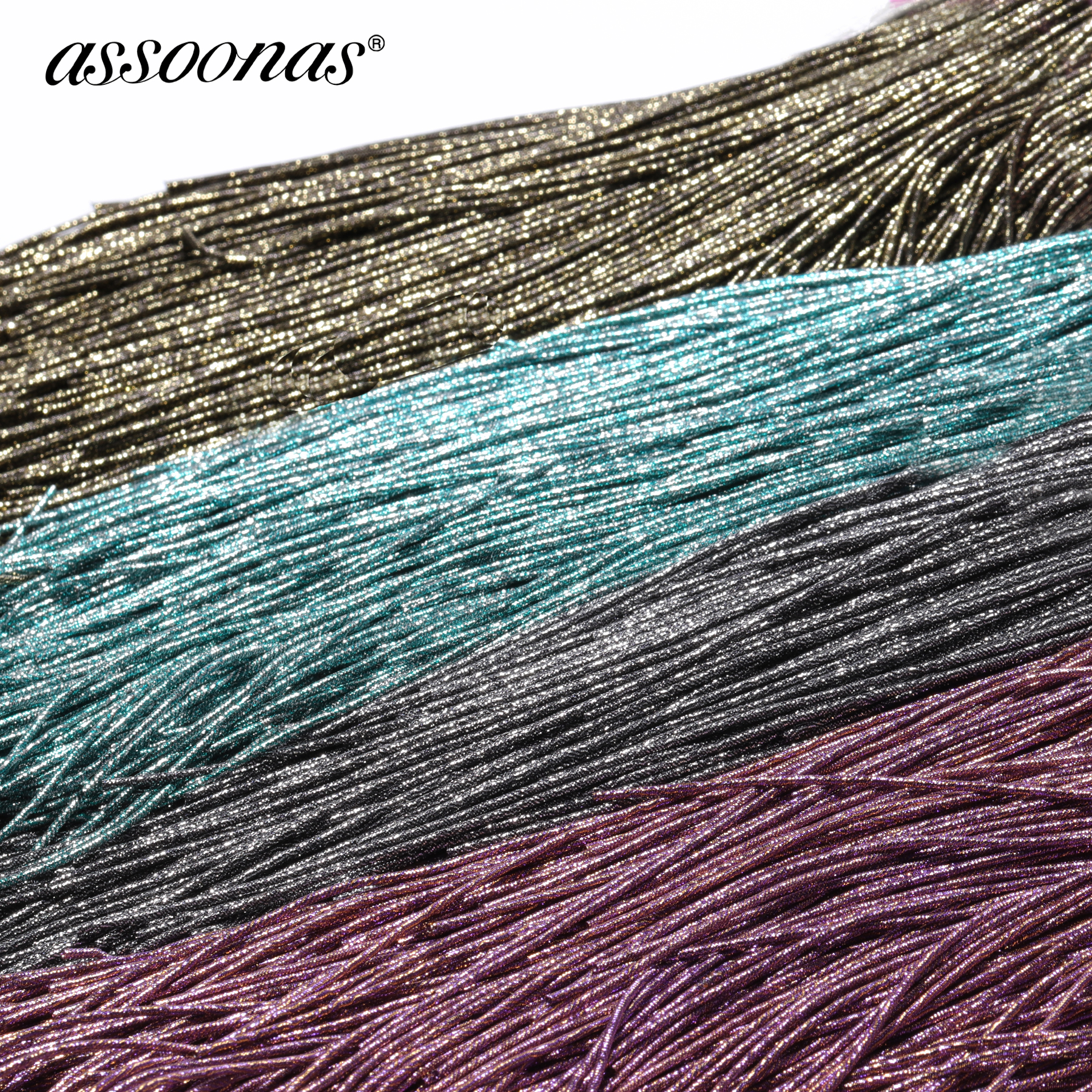 Assoonas Jewelry-Accessories Embroidery Copper-Wire Handmade Diy 12g M348