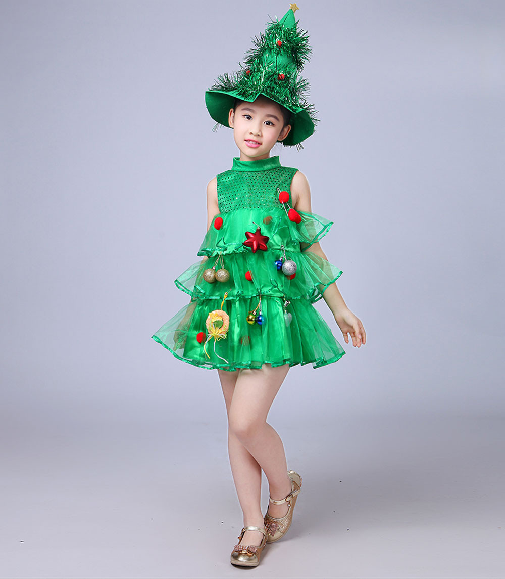 Toddler Christmas Tree Costume.Us 9 35 35 Off Toddler Kids Baby Girls Christmas Tree Costume Dress Tops Party Vest Hat Outfits Nov 9 In Clothing Sets From Mother Kids On