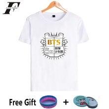 Luckyfridayf BTS 2018 Kpop manga corta Camiseta mujeres casual bangtan amor  usted mismo Kpop Camiseta de algodón Hip Hop camisas 4aec18bbbb541
