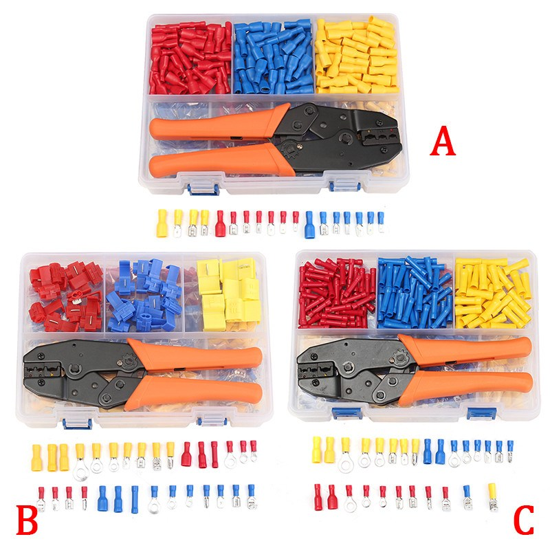 900/520/780 Pieces Male / Female Spade Wire Connector Terminal Kit Electrical Crimping Plier 22-10 Assorted DIY Hand Tool Set 100pcs lot 4 8 male and female insulated terminal insert the plug sheathed wire terminal connector 0 2 1mm2