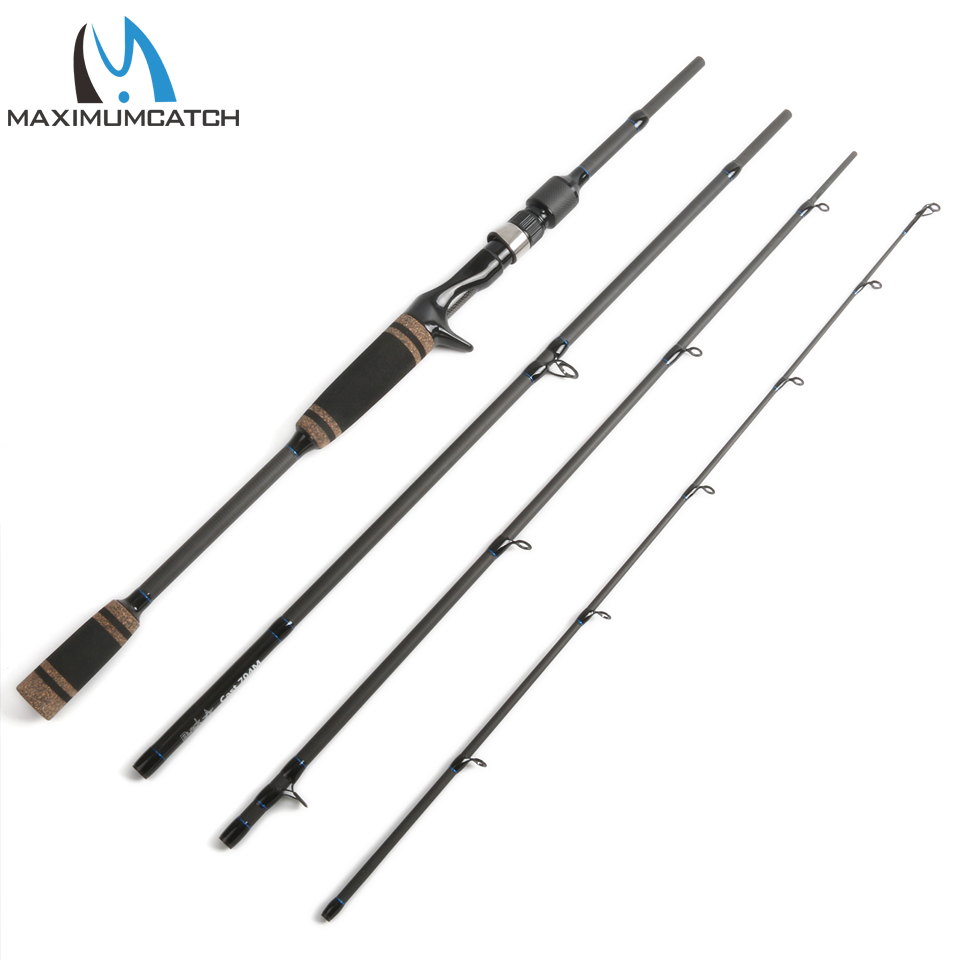 Maximumcatch Lure Casting Fishing Rod 7' Line 4-20lbs Lure 7-21g Carbon Fishing Rod Fast Action 4 Pieces For Lure Fishing 1 8m fishing lure rod