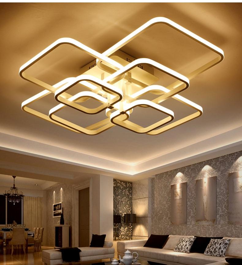 99 Off 2017 New Modern Led Ceiling Light Swimming Led: Modern Square White LED Ceiling Light Aluminum Simple