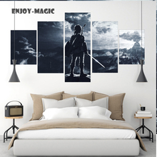 Home Decor Breath of The Wild Wall Art Canva No Frame Poster Modern 5 Pieces Oil Painting Animal Picture 5 Panel HD Print  A-014