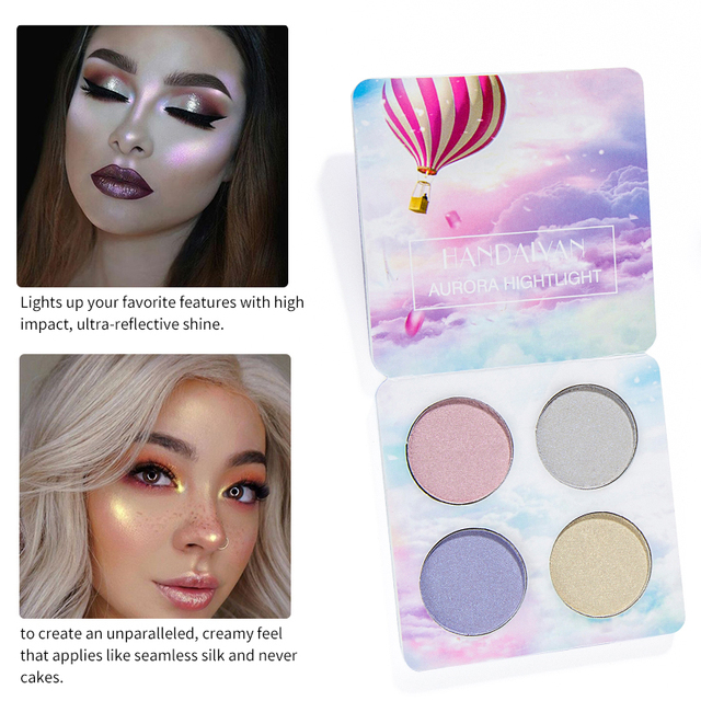 HANDAIYAN Chameleon Highlighter Palette Makeup Powder Glow Kit Iluminador Maquiagem Shimmer Shining Face Brighten Highlighter