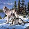 Wolf Full Square Diamond Painting Cross Stitch Diamond Mosaic Craft Diamond Embroidery Diy Needlework Gift Home