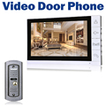 "9"" LCD Monitor Wired Video Door Phone 700TVL IR Camera Night Vision Key Button Doorbell Intercom System"