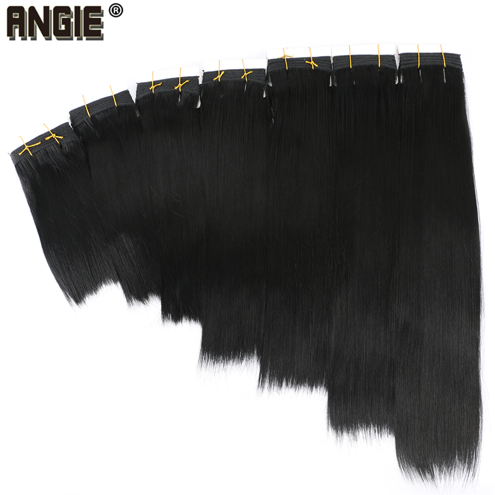Color Black 8-20 Inch 100 Gram/pcs Silky Straight Hair Weave Cheap Price Synthetic Hair Weave