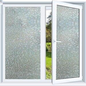 Image 2 - Film pour fenêtre givré en mosaïque, 60x200 cm, couleur arc en ciel, film pour verre statique opaque, feuille de transfert de chaleur en vinyle