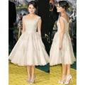 Одеяние де вечер Courte линия аппликации рукавов вечернее платье короткие элегантных женщин платья стиль звезды короткие вечерние платья 2016