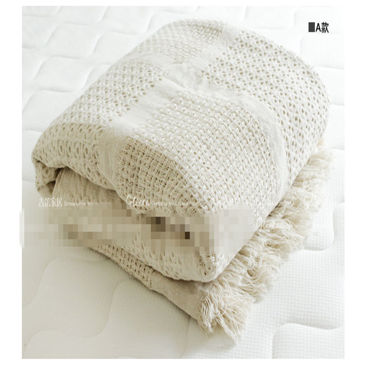 Nordic style cotton thread blanket thicken woven bed spread throw sofa cover blanket free shipping 1 kenolux shine cid lines 981794