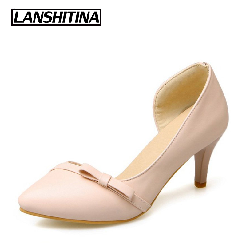 Womens High Heel Pump Shoes heels Pointed Toe Fashion Quality Lady Spring Summer Professional Pumps Footwear Lady Shoes G1106 new 2017 spring summer women shoes pointed toe high quality brand fashion womens flats ladies plus size 41 sweet flock t179