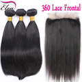 360 Lace Frontal With Bundle 8A Peruvian Body Wave 360 Frontal With Bundles Top 360 Lace Frontal Closure With Bundles Human Hair