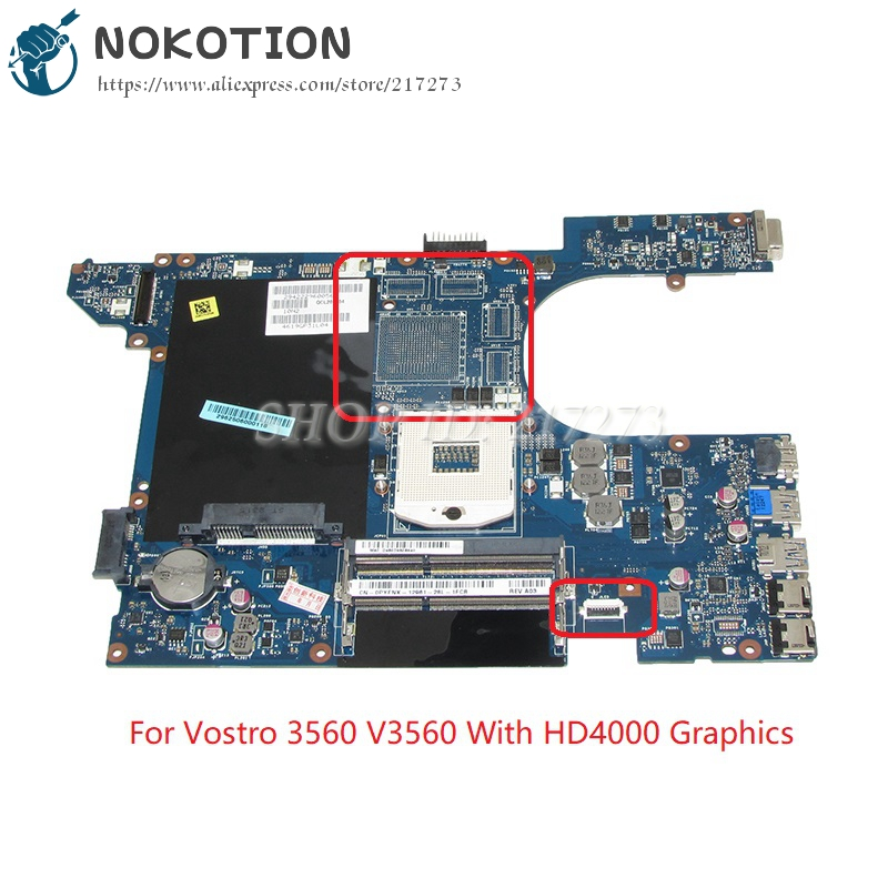 NOKOTION QCL00 LA-8241P CN-0PYFNX 0PYFNX PYFNX Mainboard For Dell Vostro 3560 V3560 Laptop Motherboard HM77 DDR3 nokotion laptop motherboard for dell vostro 3500 cn 0w79x4 0w79x4 w79x4 main board hm57 ddr3 geforce gt310m discrete graphics