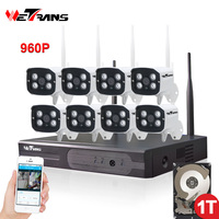 Outdoor Security Camera System Wireless 8CH 960P HD 20m Night Vision Waterproof Home Use 1TB Wifi
