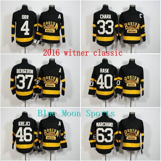 4ebdddcfbe9 ... 2016 Winter Classic Boston Bruins Jersey Black 33 Zdeno Chara 37  Patrice Bergeron 40 Tuukka Rask ...
