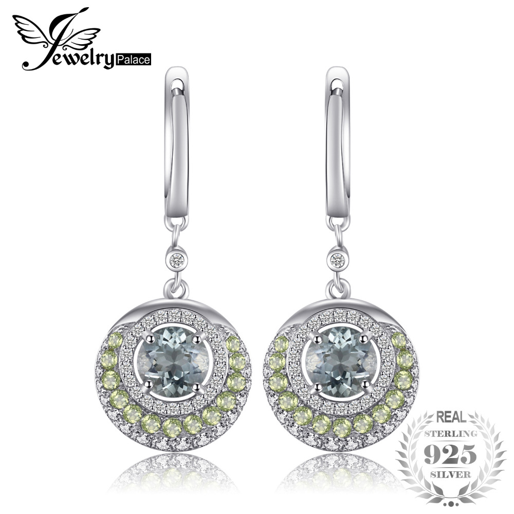 Jewelrypalace Genuine Green Amethyst Peridot Dangle Earrings 925 Sterling Silver Fashion Women Fine Jewelry New Arrival
