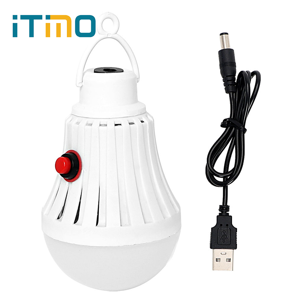ITimo Emergency Light Tent Light Outdoor Lighting LED Bulb White Portable Energy Saving USB Rechargeable Camping Lamp